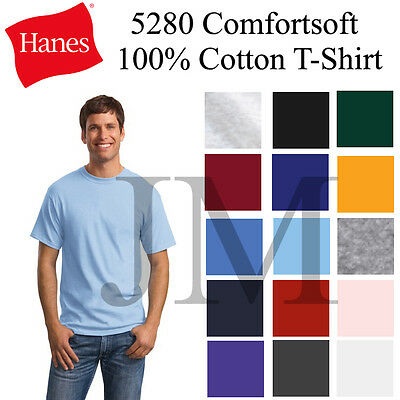 Hanes Comfortsoft 100% Cotton T-Shirt Sml-3XL Tee 5280