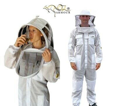 "Beekeeping Suit ""oz Armour"" Ventilated Three Layer Mesh Ultra Cool Breeze"