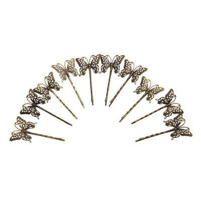 Pack of 10 Vintage Hair  Pins Retro Grips Slides Hair Accessories Butterfly