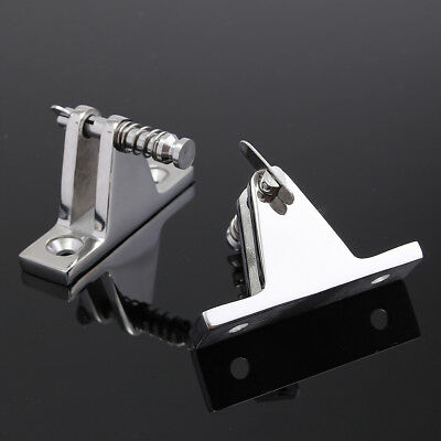 1 Pair Marine Grade Boat Bimini Top Spring Deck Hinge Stainless Steel Fittings