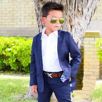 New Style Kids Formal Groom Tuxedos Children  Boys 2 piece Party Suits Bespoke
