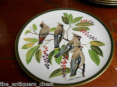 """""""SONGBIRDS OF THE WORLD"""" FRANKLIN PORCELAIN by Wedgwood  plate """"BOHEMIAN WAXWING"""
