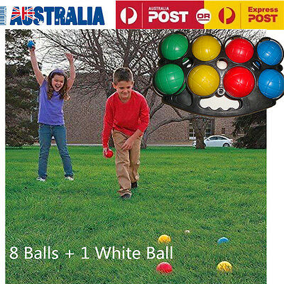 NEW Boule Bocce 9 Ball Set | Outdoor Toys Plastic Boules Jack Games AU Stock