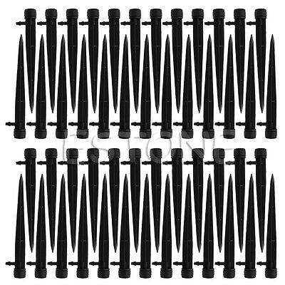 50Pcs 360° Adjustable Water Flow Irrigation Drippers Stake Emitter Drip System