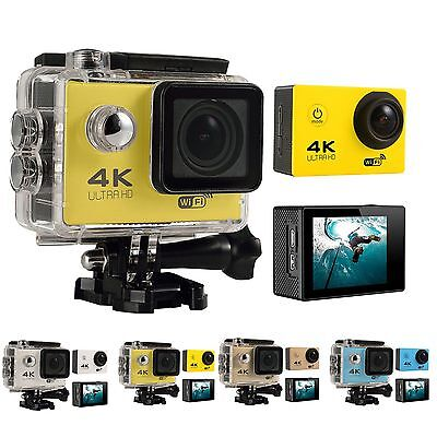 WiFi 4K ULTRA HD 1080P 12MP Waterproof Sport DV Video Action Camera Camcorder