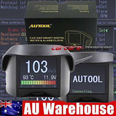 AUTOOL X50 PLUS Digital Car OBDII Meter Alarm Fault Code Voltage Speed Display