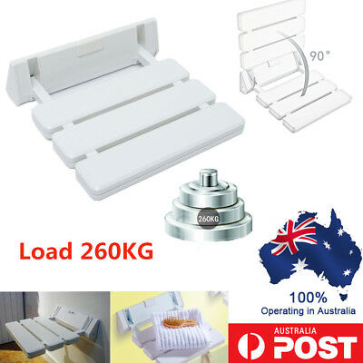 Folding Wall Mounted Shower Seat Chair Solid Spa Bench Chair Aluminum upto 260KG