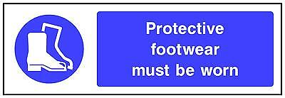 3 X Qty 180 X 60 Mm Protective Footware Must Be Worn Garage Factory