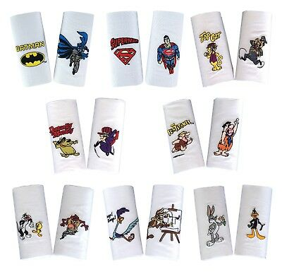 Men's Gift - Fun Novelty Embroidered 100% Cotton Handkerchiefs (Pack of two)