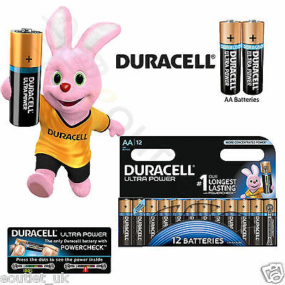 Duracell MX1500 LR6 MIGNON Ultra Power AA Size Batteries - Pack of 12 NEW