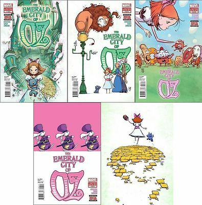 THE EMERALD CITY OF OZ #1 2 3 4 5 1st print set MARVEL COMIC wonderful wizard NM