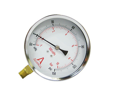 "FIRE PUMP SUCTION Gauge by Allenco Fire - 30""-0-150 PSI - Dry Utility Gauge"