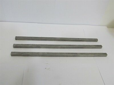 """Key Stock 3/8"""" x 12"""" Stainless Steel - USA Made - 1 lot of 3 each"""