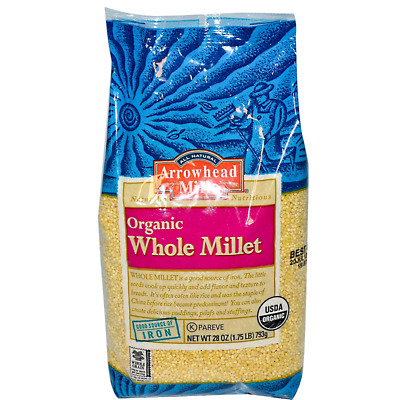 New Arrowhead Mills Organic Whole Millet Fiber Iron Natural Health Food Daily