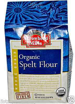 New Arrowhead Mills Organic Spelt Flour Fiber Food Healthy Daily Body Dietary