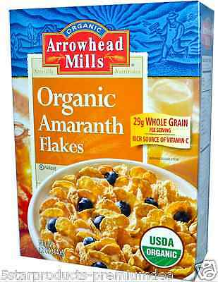 7 PACKS x ARROWHEAD MILLS ORGANIC AMARANTH FLAKE FIBER FOOD HEALTHY DIETARY