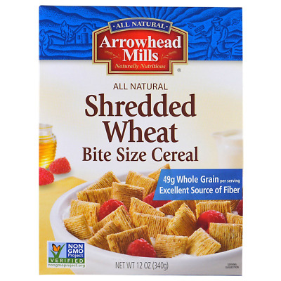 New Arrowhead Mills Shredded Wheat Cereal Fiber Food Healthy Daily Body Dietary
