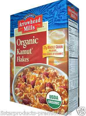 New Arrowhead Mills Organic Kamut Flakes Protein Fibers Food Dialy Health Care