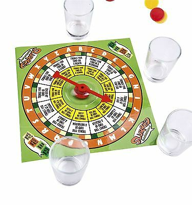 Adult Shot Glass Drinking Game 4 Shot Glasses Spin a Drink Party Spinner Hen