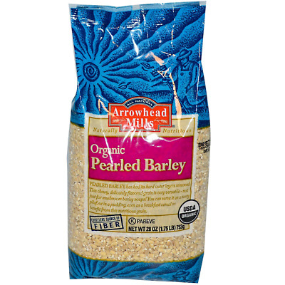 New Arrowhead Mills Natural Organic Pearled Barley Low Fat Vitamin C Vegan Daily