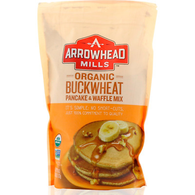 New Arrowhead Mills Natural Organic Buckwheat Pancake & Waffle Mix Fiber Food