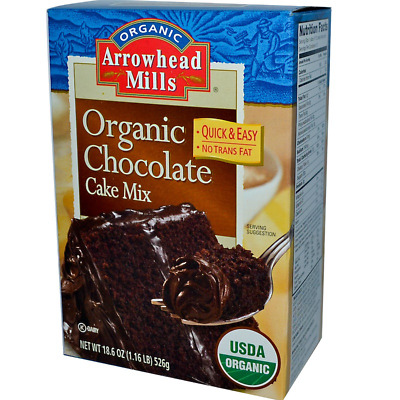 New Arrowhead Mills Natural Organic Chocolate Cake Mix Healthy No Cholesterol
