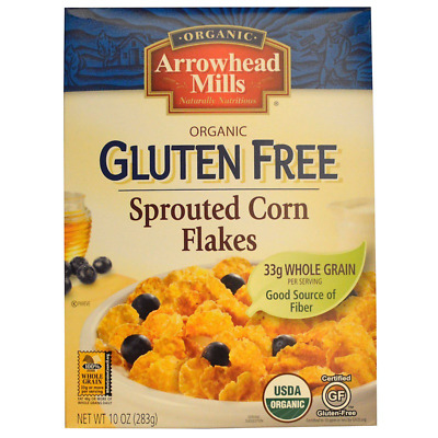 New Arrowhead Mills Natural Organic Gluten Free Sprouted Corn Flakes Daily Food