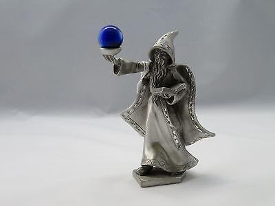 New Wizards And Fantasy Spoontiques Fine Pewter Wizard with Blue Crystal Ball