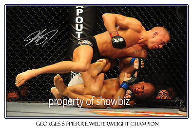 * Georges St-Pierre, Large Signed Autograph Poster, Looks Great On The Wall!!!!!