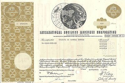 International Business Machine Corporation - IBM  stock certificate 1976 1 share