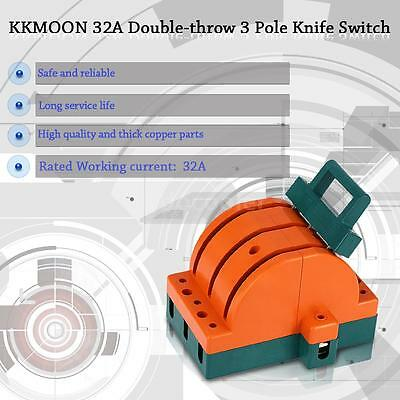 32A Three Pole Double Throw Knife Disconnect Switch Circuit Breaker KKMOON S7B9