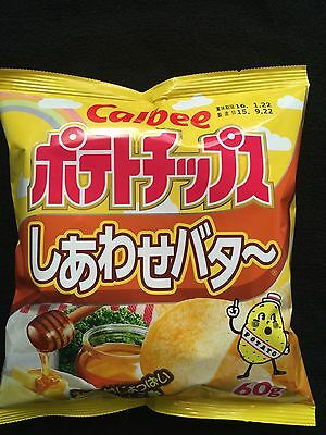 Japanese Calbee Potato Chips happy butter Flavor 1,3,5 pack free shipping!