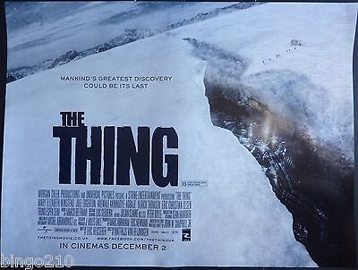 The Thing 2011 Original Quad  Poster Joel Edgerton Mary Elizabeth Winsted