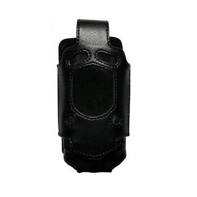 OEM Verizon Casio G'zOne Rock C371 Fitted Leather Case with Belt Clip (Black) (B