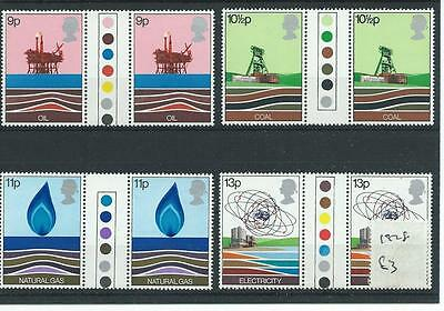 wbc. - GB - COMMEMS - 1978 - ENERGY RESOURCE  - T/L GUTTER PAIRS - UNM MINT SETS