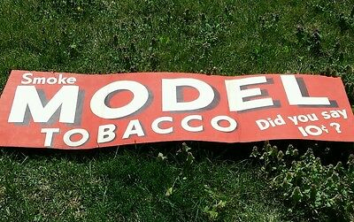 Rare Vintage 1956 10 Cent Model Tobacco Sign 20x61 3/4