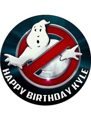 """Ghostbusters Logo 7.5"""" Rice Paper Birthday Cake Topper"""