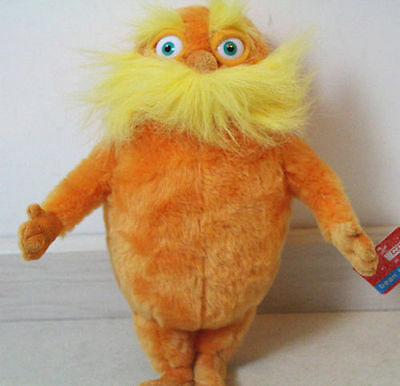 """Hot Sale The Lorax Plush Toy, 9"""" Dr Seuss Baby Gift with Free Shipping"""