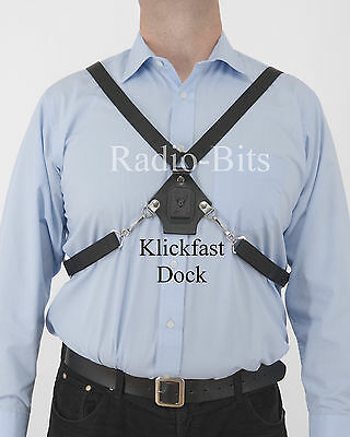Klickfast Centre Chest Harness Dock For Radios, Radio Cases, Body Worn Cameras
