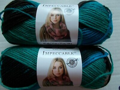 Loops&Threads Impeccable yarn, Tropical Storm,  lot of 2 (192 yards each)