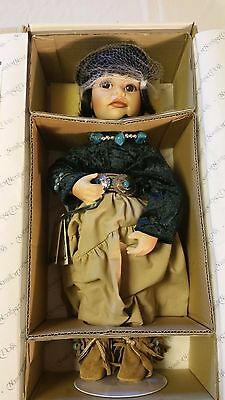 """American Indian 15"""" Porcelain Doll NAVAJO LITTLE ONE Ray Swanson Hamilton"""