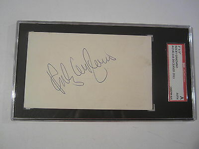 Rocky Graziano Champion Boxer Signed Autographed 3x5 Index Card SGC COA PAAS LOA