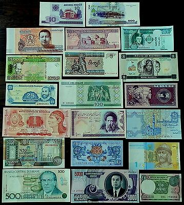 20 Pcs Collection of Desirable World Banknotes - all UNC