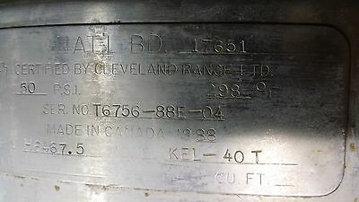 Cleveland KEL 40T Jacketed Steam Kettle