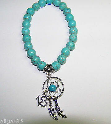 Turquoise BRACELET Age Birthday gift 16th 18th 21st 30th 40th 50th Dream Catcher