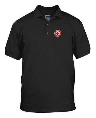 25158dc3cce06 FIRST AID NURSE DOCTOR Embroidery Embroidered Unisex Adult Golf Polo Shirt