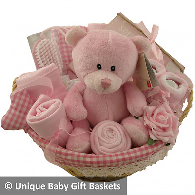 Baby gift basket/hamper 10 items girl baby shower nappy cake baby gift unique