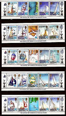 SOLOMON islands 10 strip of 5, America cup, previous winner, challengers , G117B