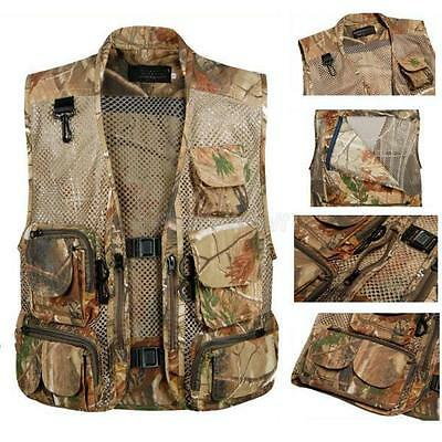 Multi Pocket Outdoor Fly Fishing Hunting Photo Jacket Waistcoat Mesh Zipper Vest