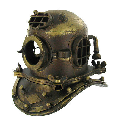 NAUTICAL DECOR  Scuba Mini Diving Divers Helmet US Navy Mark V Solid Steel